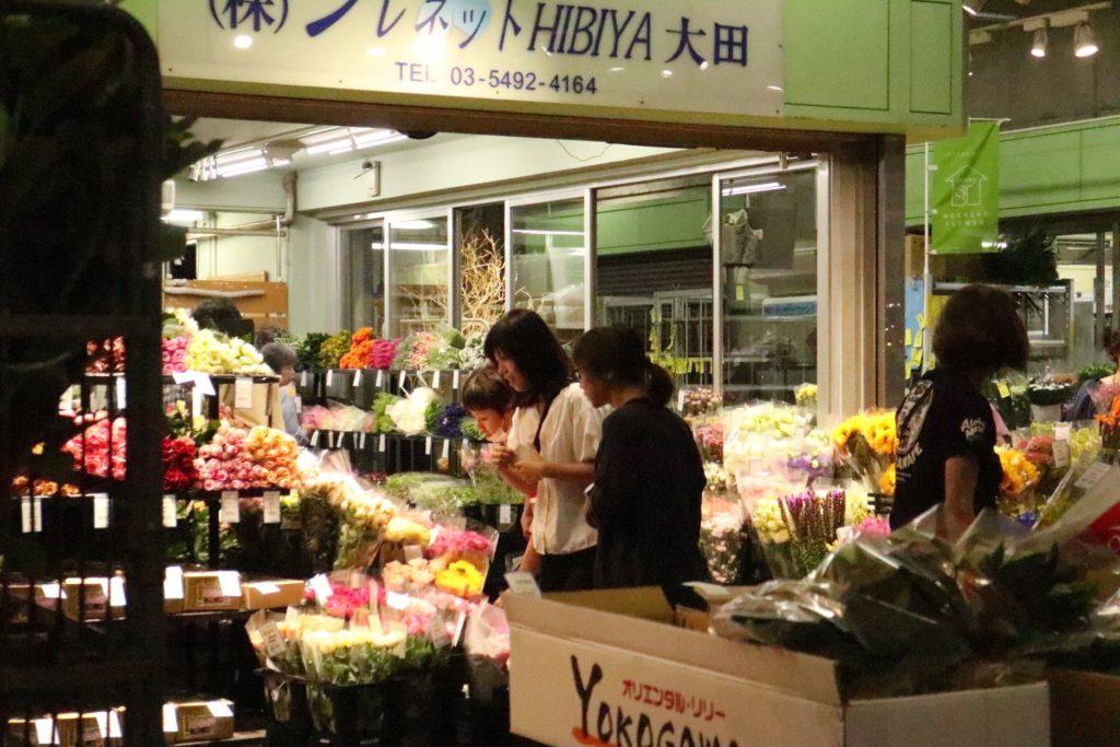 大田市場での様子